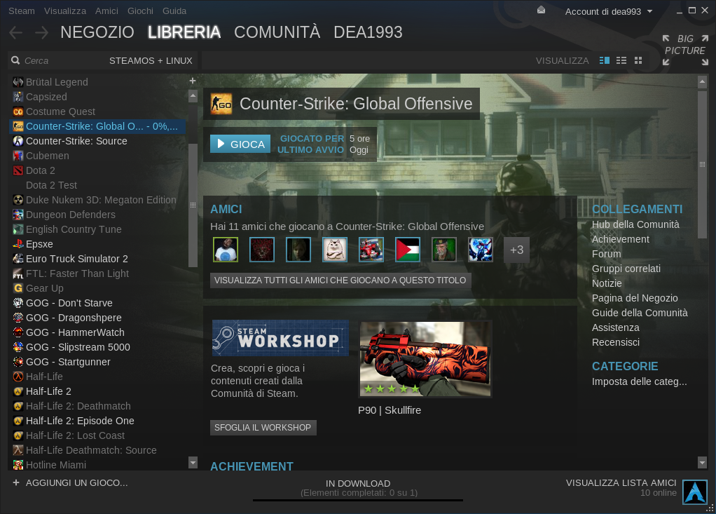 Counter Strike Global Offensive Linux