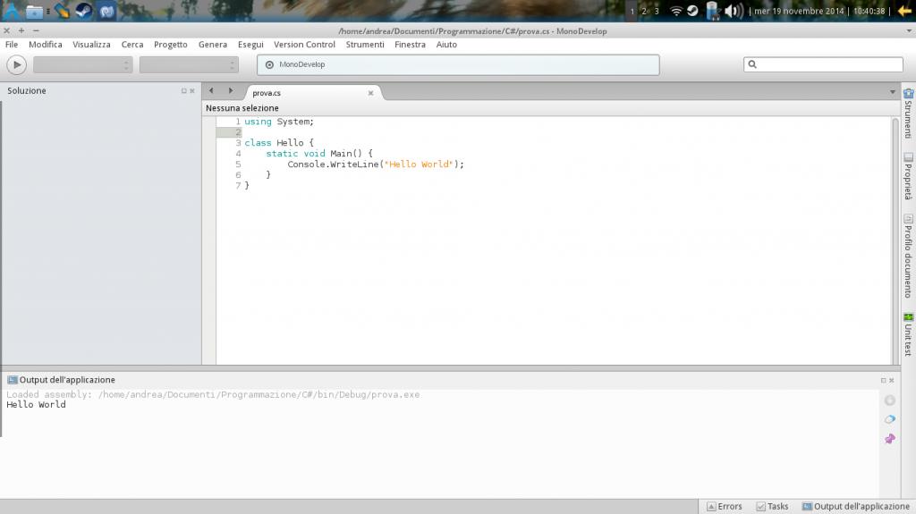 C# su Linux